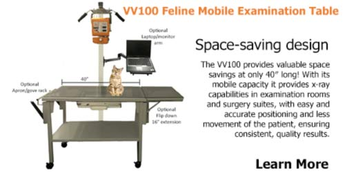 vv100 feline exam table